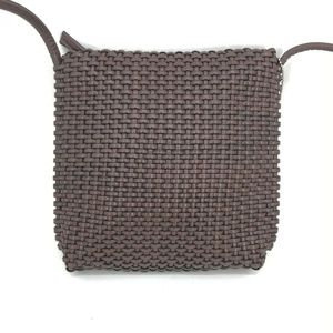 Nine West Bag Brown Leather Look Woven Crossbody B